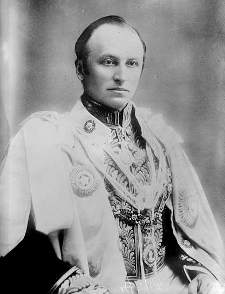 Lord Curzon in his robes as Viceroy of India, 1899-1905